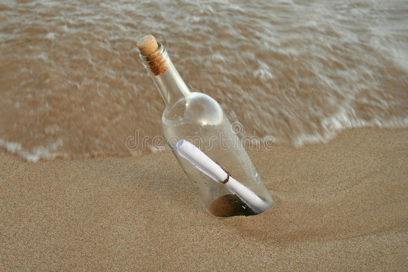 Message in a bottle 1 stock images