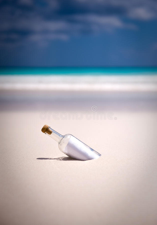Message In A Bottle Stock Images