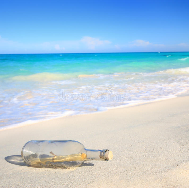Download Message in a bottle stock photo. Image of island, bottle - 13888066