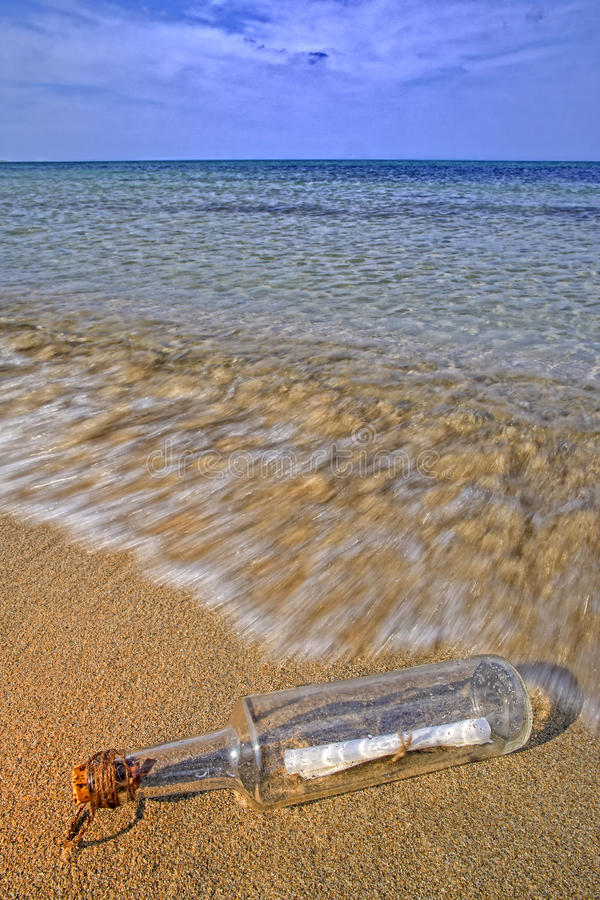 Download Message in a bottle stock photo. Image of desert, brown - 16108610