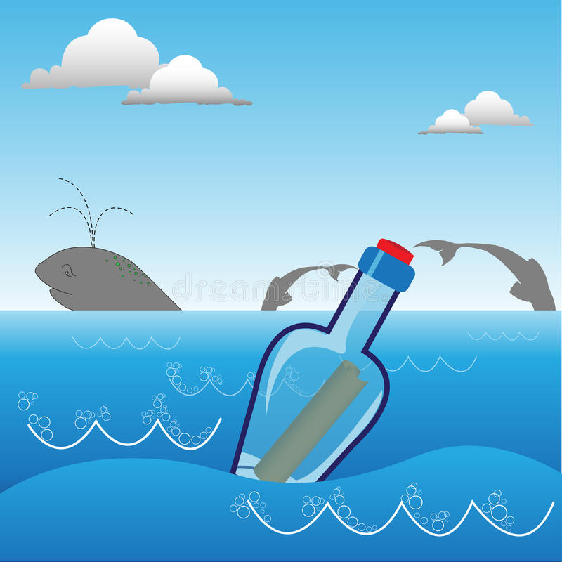 Download Message in a bottle stock vector. Illustration of rescue - 18393654