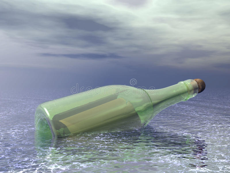 Download Message in a bottle stock illustration. Illustration of island - 19014298