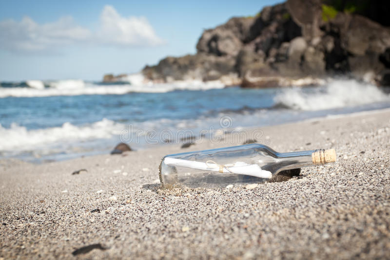 Download Message in a Bottle stock image. Image of shoreline, message - 19258591
