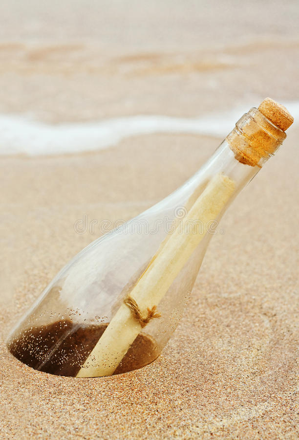 Download Message in a bottle stock image. Image of lost, portrait - 27218885