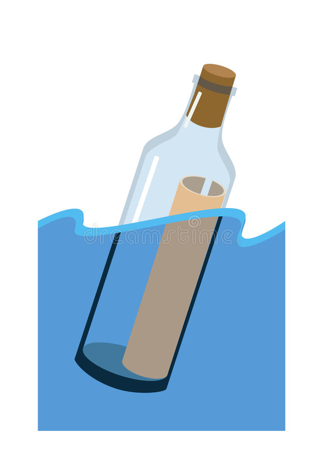 Download Message in a bottle stock vector. Illustration of artistry - 27484902