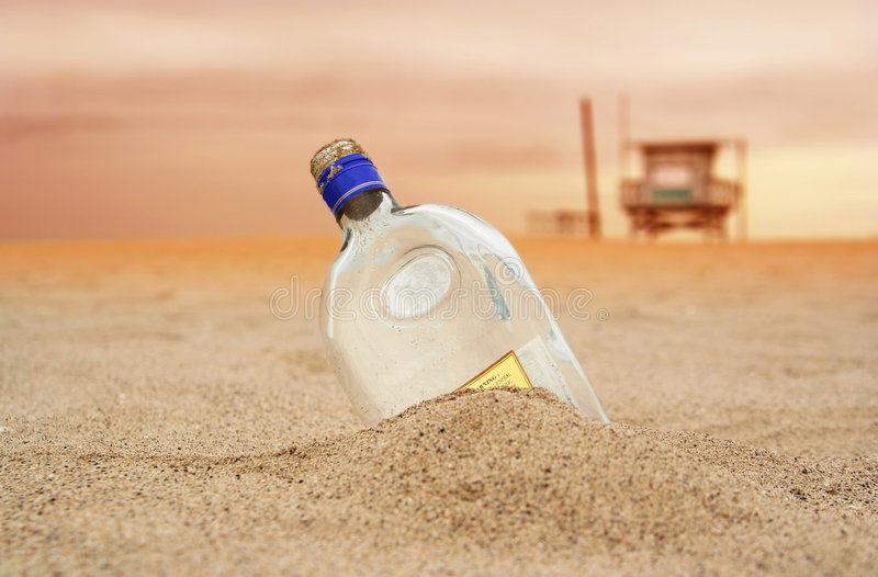 The Message Bottle royalty free stock image