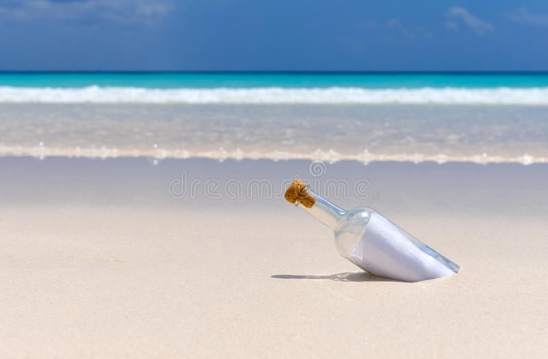 Message in a bottle 5 stock photos
