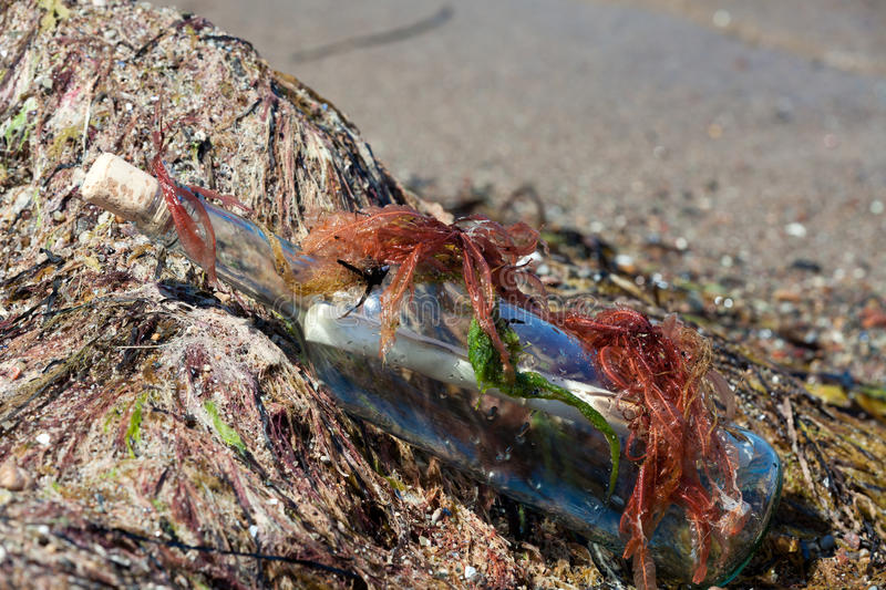 Download Message In A Bottle On The Beach Stock Photo - Image: 25183058
