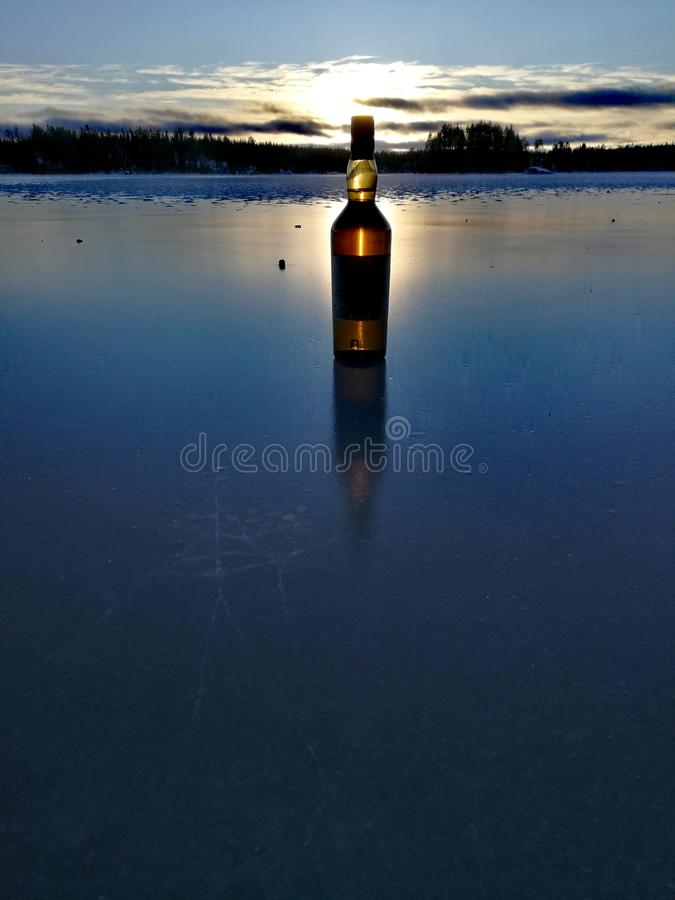 Reflections on Ice stock photography