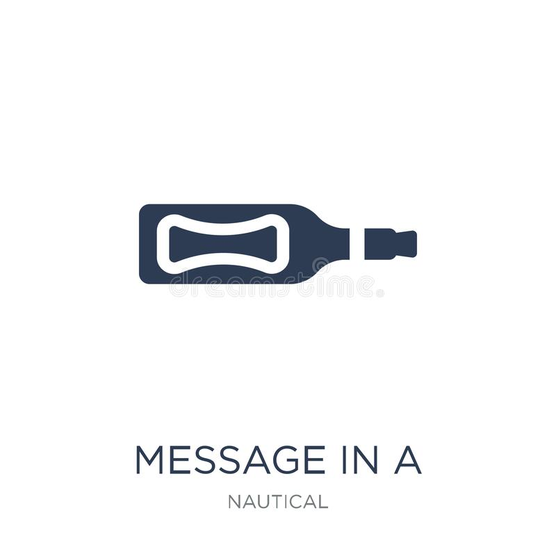 Message In a Bottle icon. Trendy flat vector Message In a Bottle. Icon on white background from Nautical collection, vector illustration can be use for web and vector illustration