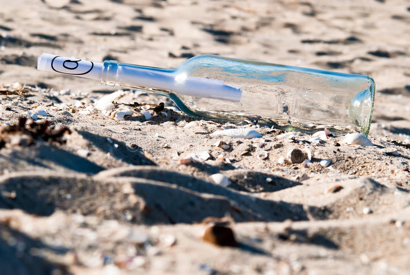 Download Message In A Bottle In The Sand Royalty Free Stock Photos - Image: 20191188