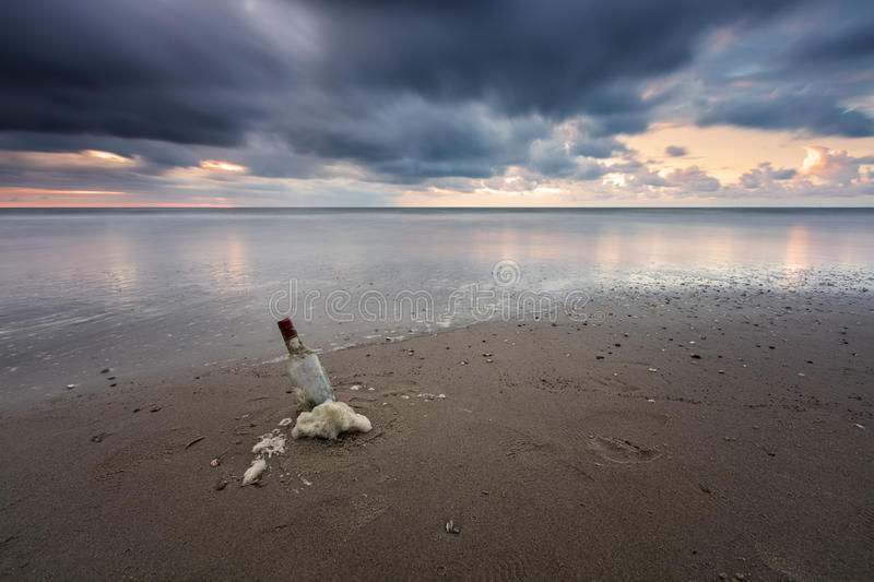 Message In A Bottle? stock image