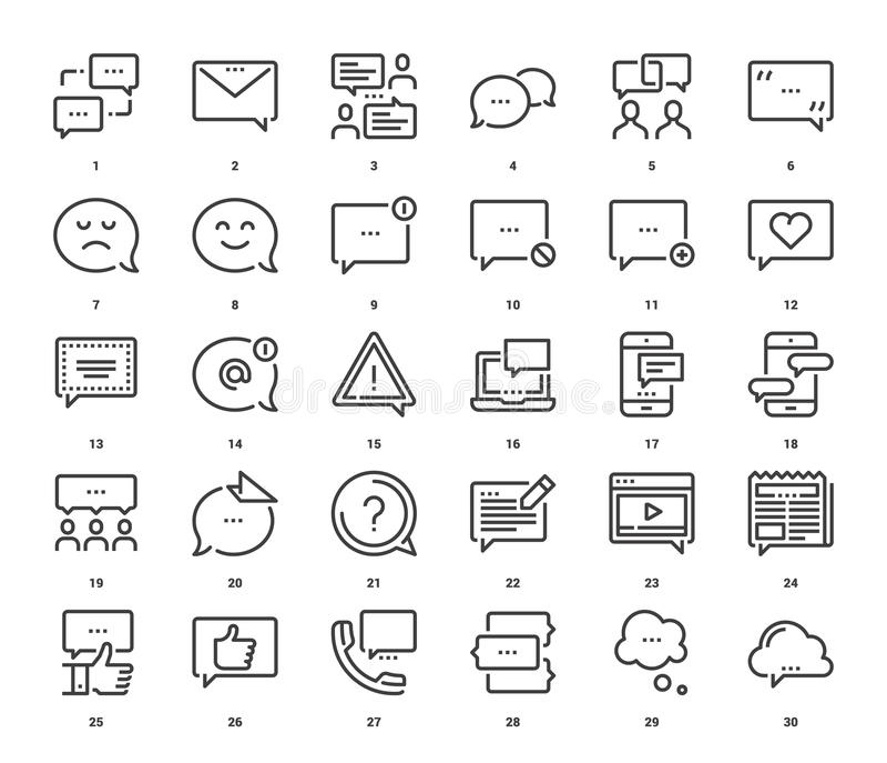 Message Bubbles Icons vector illustration