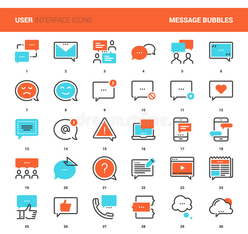 Message Bubbles Icons stock illustration