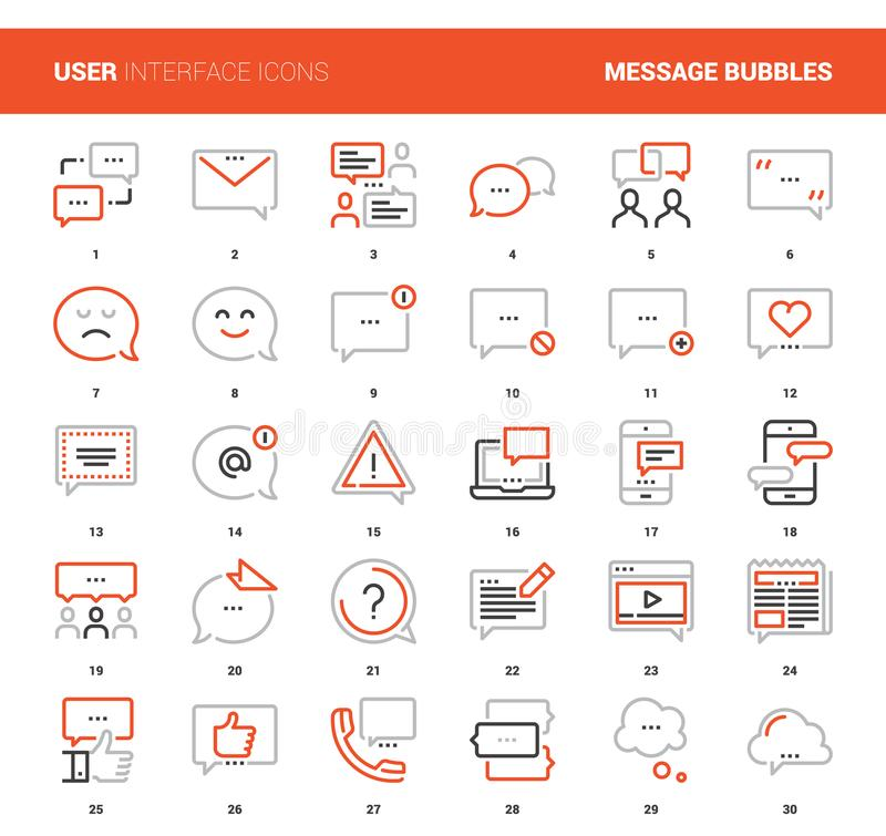 Message Bubbles Icons vector illustration