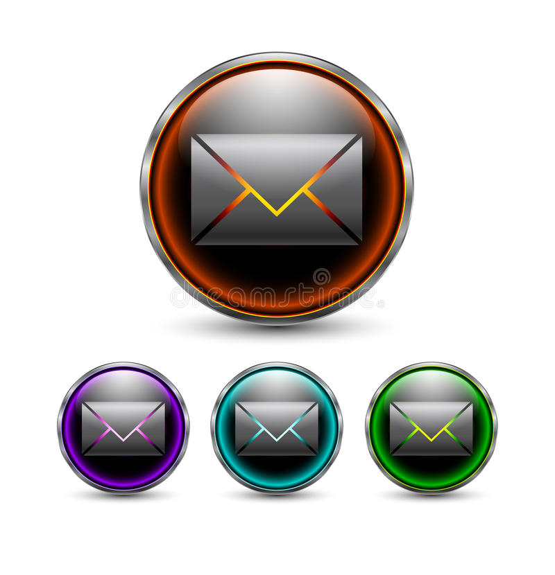 Download Message Button With Gray Frame. Stock Illustration - Image: 25289001