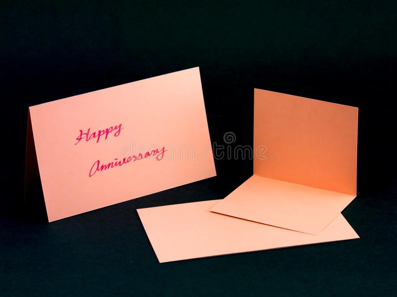 Message Card for Your Family and Friends; Happy Anniversary.  royalty free stock photo