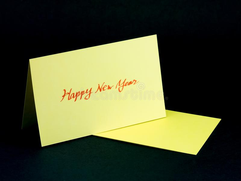 Message Card for Your Family and Friends; Happy Hew Year.  royalty free stock photo
