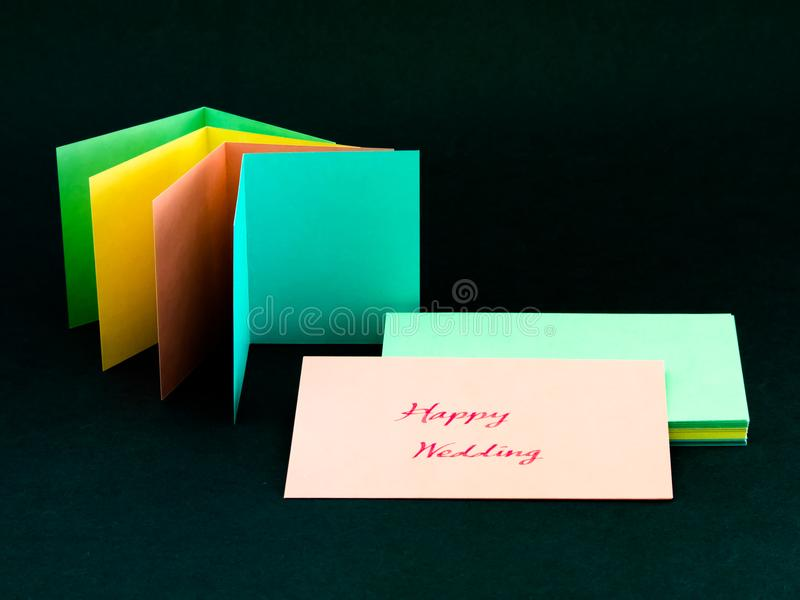 Message Card for Your Family and Friends; Happy Wedding.  stock photo