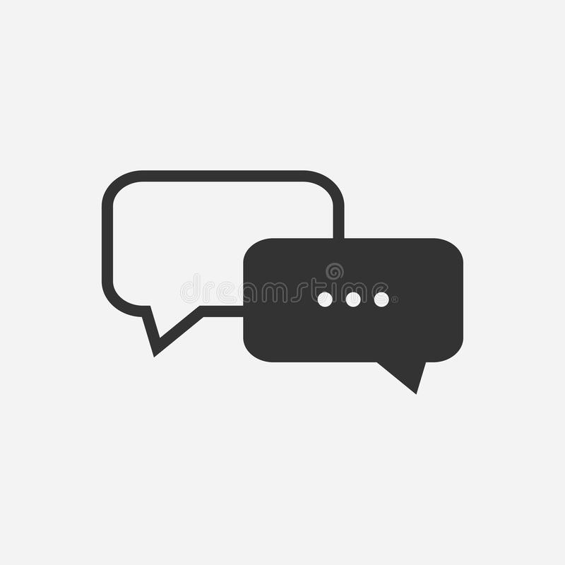 Message and chat icons. Vector illustration. royalty free illustration