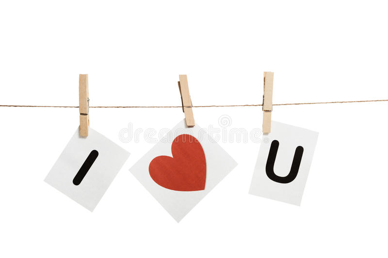 Message on clothespins royalty free stock photo