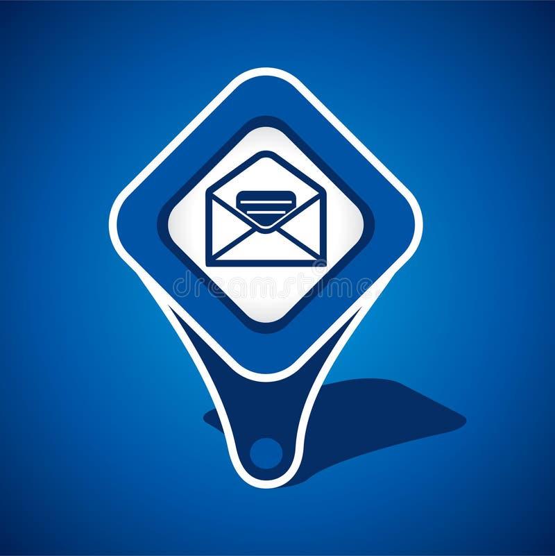 Message, conception de graphisme d'email illustration libre de droits