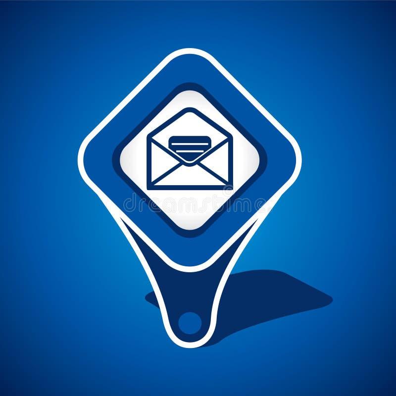 Message, conception de graphisme d'email illustration stock