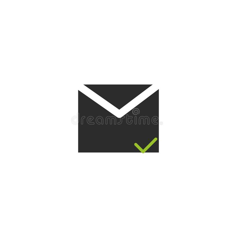 Carta message correspondence communication relationship conversation icon illustration. Message correspondence communication relationship conversation icon royalty free illustration