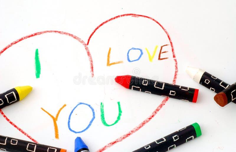 Message d'amour photographie stock
