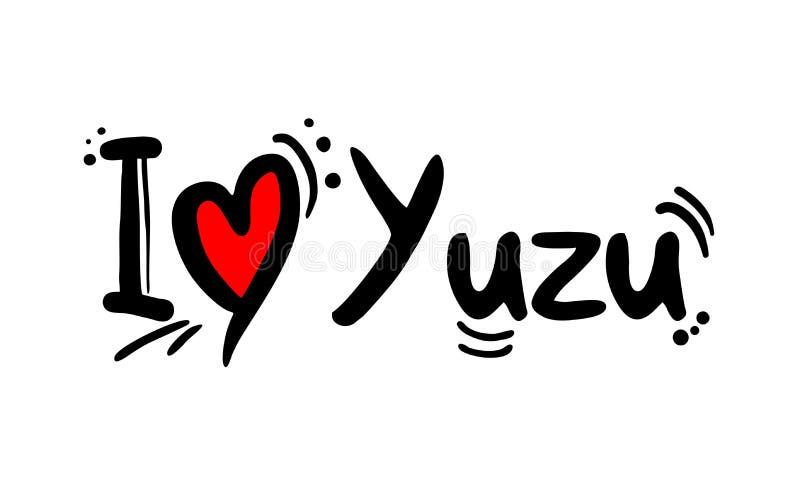 Message d'amour de Yuzu illustration libre de droits