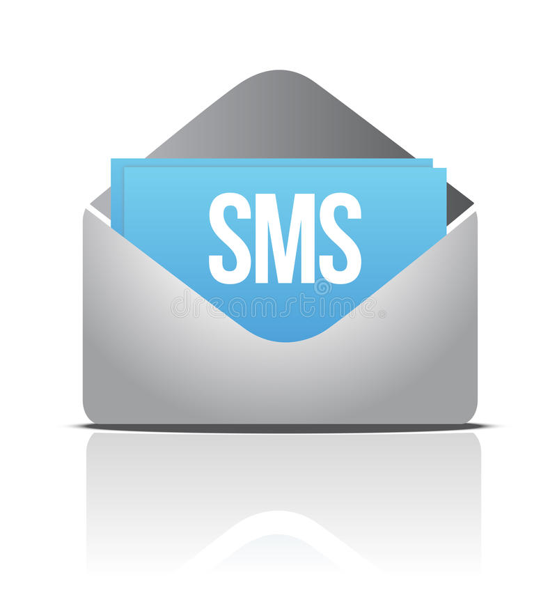 Message d'enveloppe de Sms illustration de vecteur