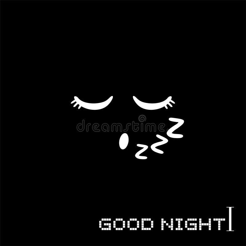 Message De Bonne Nuit Illustration De Vecteur Illustration