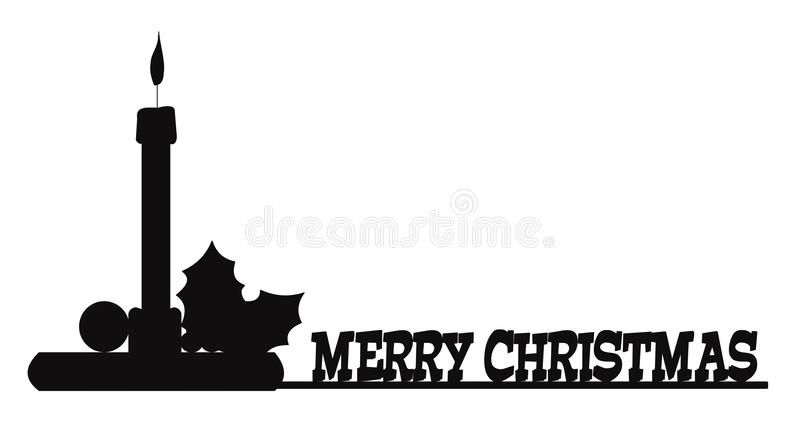 Message de Joyeux Noël à tous illustration de vecteur