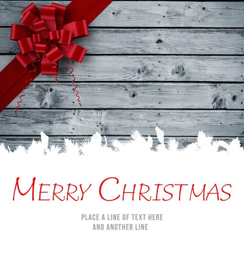 Message de Joyeux Noël illustration de vecteur