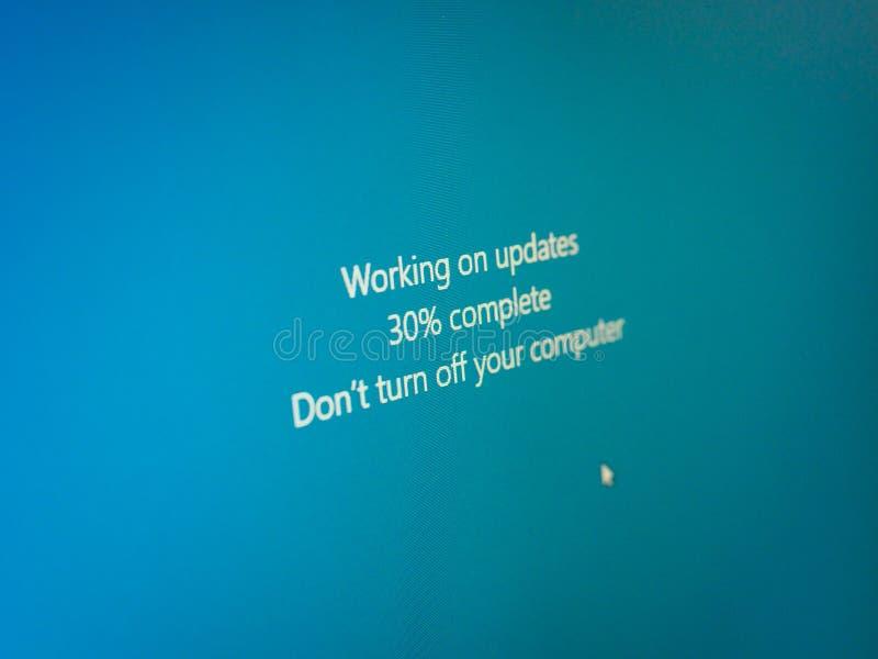 message de mise à jour de fenêtres illustration stock