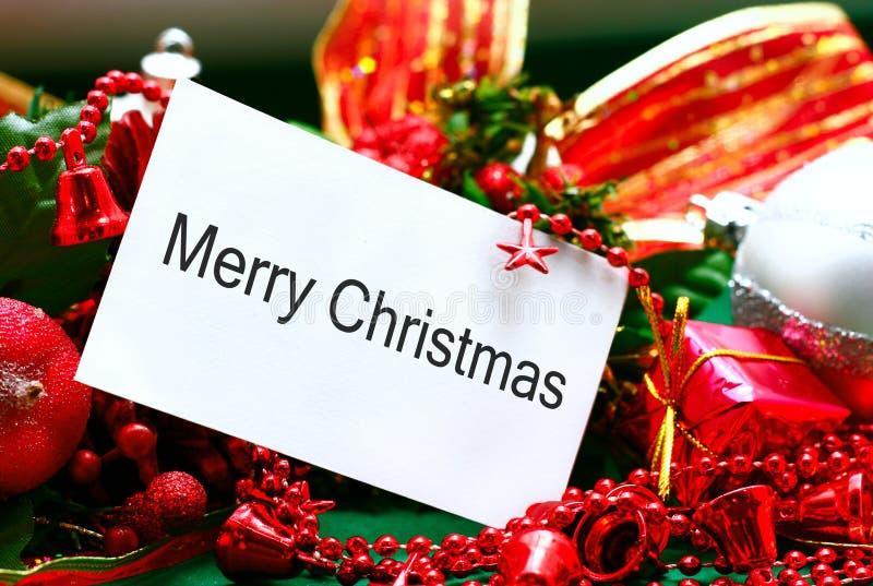 Message de Noël images stock