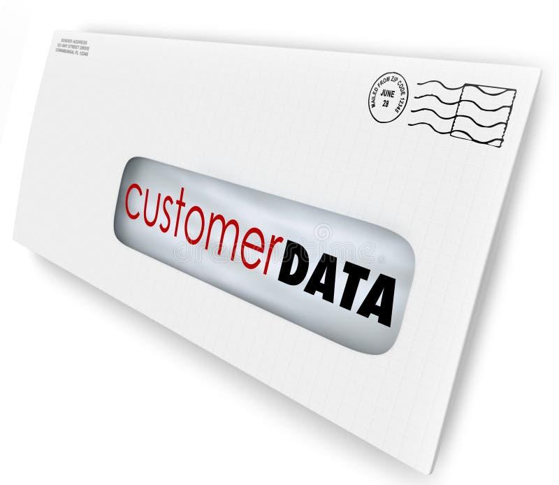 Message de publicité de vente de campagne de courrier direct de données de client illustration libre de droits