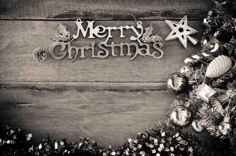 Message De Salutation De Joyeux Noël Sur Le Ton En Bois De