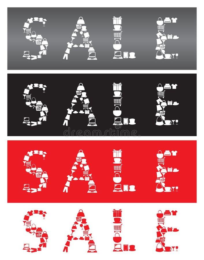 Message de vente d'icônes d'achats. illustration stock