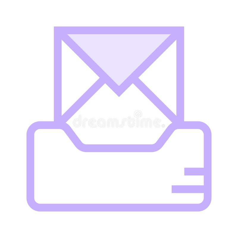 Message drawer color line icon. Vector flat Icon. Elements for mobile concept and web apps. Thin line icons for website design and development, app development vector illustration