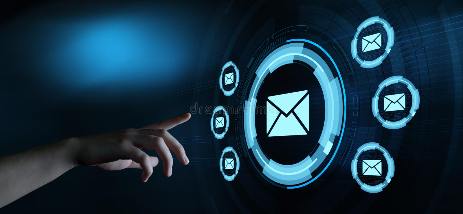 Message Email Mail Communication Online Chat Business Internet Technology Network Concept stock images