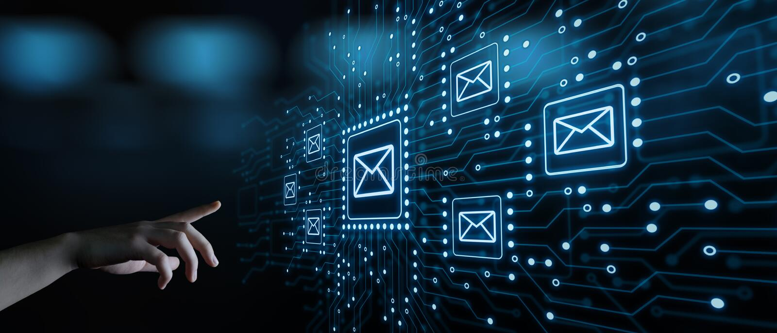 Message Email Mail Communication Online Chat Business Internet Technology Network Concept.  royalty free stock image