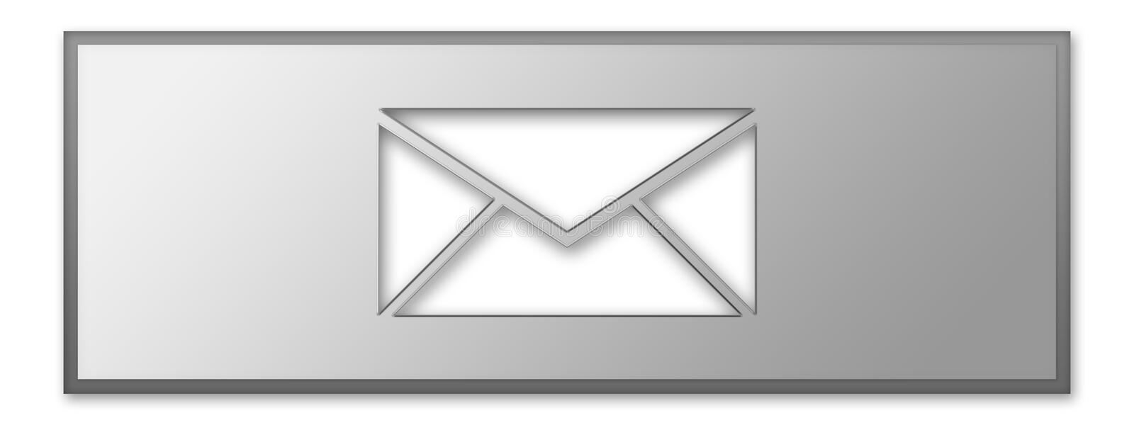 Message icon. Message received and message send- web button stock illustration