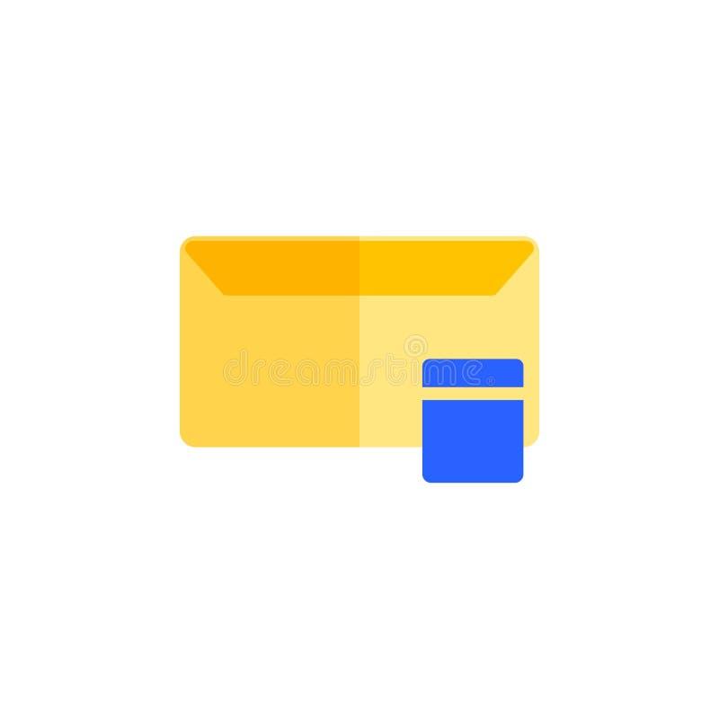 Message icon design flat style, trash icon, empty icon, logo and presentation template stock illustration