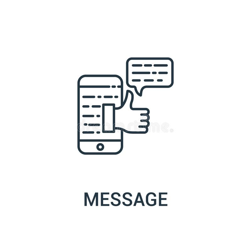 message icon vector from ads collection. Thin line message outline icon vector illustration. Linear symbol for use on web and vector illustration