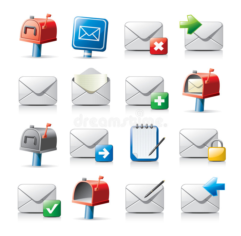 Message icons. Vector message icons isolated on white background