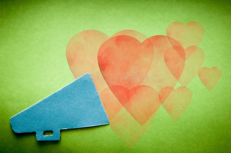 Message of love, tell someone you love them on Valentines Day royalty free stock images