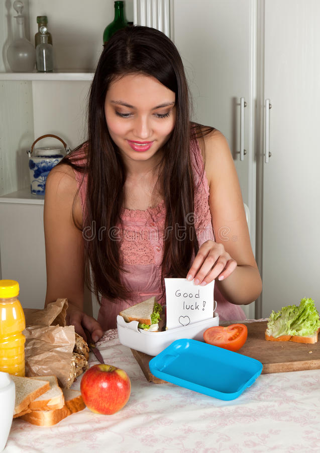 Download Message in a lunchbox stock photo. Image of lunchtime - 24061576