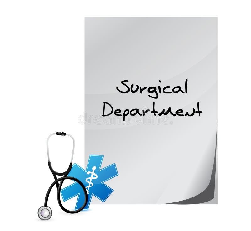Message médical de département chirurgical illustration de vecteur
