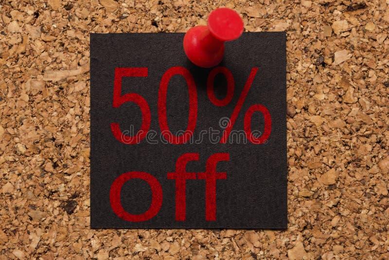Message mural Rappel de Black Friday Thumbtack rouge photographie stock libre de droits